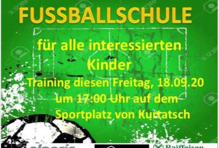 Die Fußballschule beginnt